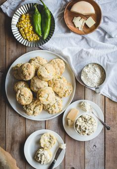Sweet Corn & Hatch Biscuits with Ricotta Hatch Chile Pimento Cheese ...