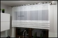 Home Curtains, Curtains With Blinds, Shades Blinds, Küchen Design, Modern Kitchen Design, Home Interior Design, Home Appliances, House, Furniture