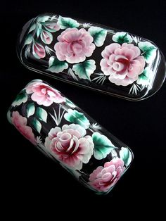 Hand Painted Butter Dish with Pink Roses by SoundsOfSavanah, $15.00