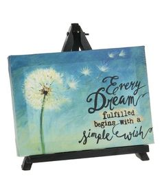 Look what I found on #zulily! 'Every Dream' Sign & Easel #zulilyfinds
