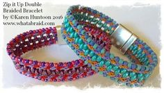 Kumihimo Beaded Necklace Kit with 5 clusters of glass double / bauble beads with acrylic magnetic clasp.