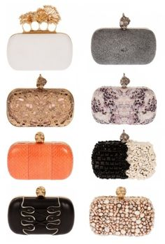I want an Alexander McQueen clutch for my birthday. Time to start dropping hints to my husband. =)