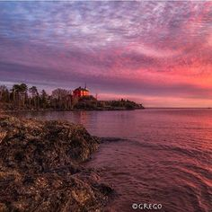 """usatoday: """"Morning colors shine over Lake Superior in Marquerre Mich. on Nov. 15 2015. (Photo by Greg Orlich @YourTake) #lakesuperior #colors #sun #sky #michigan"""""""