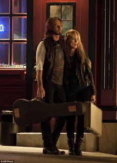 New film: Meryl Streep and Rick Springfield have been pictured for the first time on the set of Ricki And The Flash in New York on Tuesday night