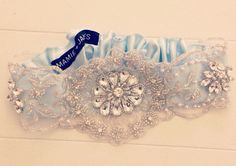 Bridal garter crystal garter couture garter available@ www.miaelenabridal.com