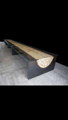 Corten log bench