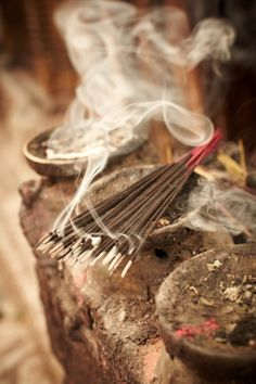 """Bearing and nurturing, creating but not owning, giving without demanding, controlling without authority, this is love."" — Lao Tzu Incense burning in Nepal"