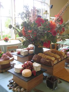 Cheeses, crudite, breads in the Ventana Room.