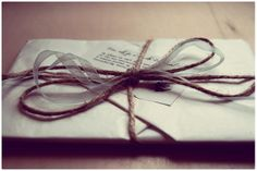 Rustic letter wrapping