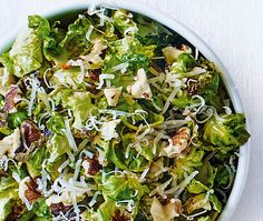 Sprout leaves with walnuts & Parmesan | ASDA Recipes