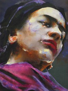 FRIDA-35, Lita Cabellut (b1961, born a gipsy girl in the streets of El Raval in Barcelona, Cabellut was adopted at the age of 13)...