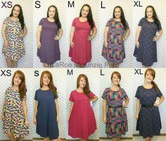 LuLaRoe Carly dress in multiple sizes worn by two different people. I am a size 14/16 and prefer the small/medium...my friend is a 6/8 and the xxs and xs work best for her! ❤️ #LuLaRoe #lularoecarly #carly #lularoemckinzieparr