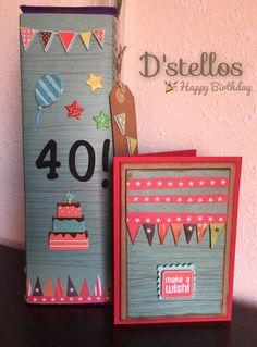 #Dstellos Detalle para un cumpleaños. Una manera diferente de hacer un regalito (tableta de chocolate). A su destinatario le encantó!!! #Canarias #Scrap #Manualidades