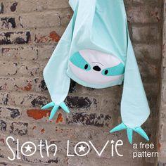 Sloth Lovie - a free pattern from Shiny Happy World