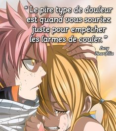 Anime Fr, Otaku Anime, Fairy Tail Natsu And Lucy, Fairy Tail Anime, Quotes Arabic, Image Citation, Character Quotes, Bad Mood, Character Drawing