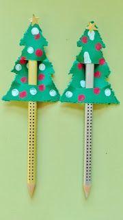 Kreattiva Lavoretti Di Natale.Decorazione Natalizia Per Matite Natale Artigianato Kids Crafts Ornamenti Natalizi