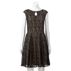 Suite 7 Lace Fit & Flare Dress - Women's