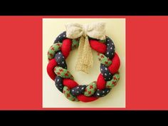 Christmas wreath - knitting tutorial - YouTube