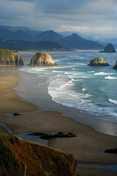 Ecola State Park, Oregon, USA, HMMM?? Going on trip to Oregon this year!! I will have to put this on the list. ~~~A