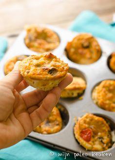 Pittige paleo ei-muffins met chorizo en bosui - Mijn Paleo Keuken