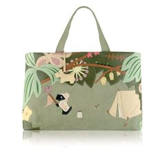 I own this one...love it.  :o)  Radley Signature Radley Get Me Outta Here 2009 20th Radley Signature bag to be released. YEAR: 2009 SEASON: Autumn / Winter NAME: Radley Get Me Outta Here DESCRIPTION: Radley signature Radley Get Me Outta Here bag.  This bag features Radley in the jungle.  The rear shows a campfire. It is complete with …