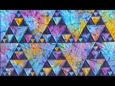 Northern Lights part 2 quilt video by Shar Jorgenson Quilt Block Patterns, Pattern Blocks, Quilt Blocks, Quilting Tutorials, Quilting Ideas, Quilting Projects, Jaybird Quilts, Motion Sickness, Wilmington Prints