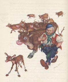 Arthur Szyk - illustration for Anderson's Fairytales.