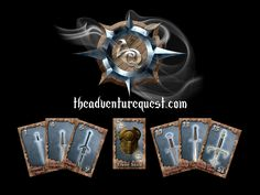 The Adventure Quest Card Game project video thumbnail Adventure Quest, Video Thumbnail, Videos, Card Games, Cards, Miniatures, Blue Prints, Map, Playing Cards
