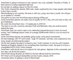 Details about ArmaTeam future plans ! Summary of a Q&A with Llewellys. #games #Starcraft #Starcraft2 #SC2 #gamingnews #blizzard