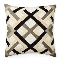 Williams-Sonoma Home's patterned throw pillows update a space with fresh designs and color. Shop printed and patterned accent pillow covers including plaid, geometric, and animal print pillows. Interior Design Boards, Reception Rooms, Cushions On Sofa, Boho, Accent Pillows, Decorative Throw Pillows, Living Room Designs, Pillow Covers, Trellis