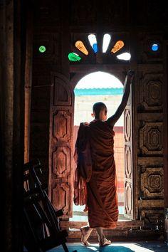 at the monastery door