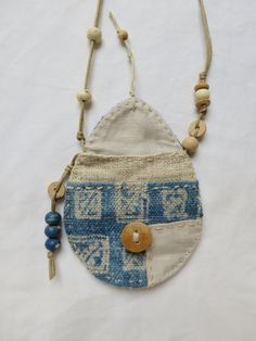 Indigo textile Talisman Pouch by Indinoco on Etsy