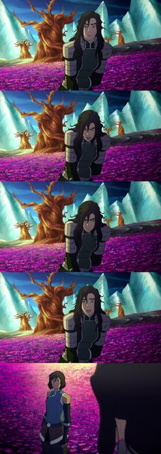 Korra and Kuvira in the spirit world.  Legend of Korra 4.13 The Last Stand