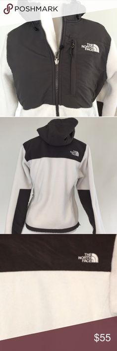 The North Face Hooded Denali Fleece Jacket The North Face Hooded Denali Fleece Jacket in perfect condition! Black & White! Size XS North Face Jackets & Coats