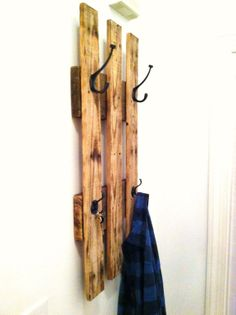 Reclaimed Wooden Coat Rack