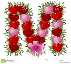 Letter M Valentine Letter Stock Photos Image  Photo Letters Love Letters