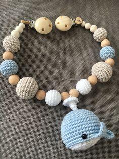Kinderwagenkette für den kleinen Prinzen Wal , blau/beige/weiß
