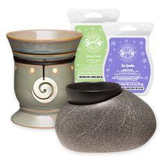 1 Coastline Premium Warmer, 1 Zen Rock Element Warmer, 1 Serene Green Scentsy Bar, 1 Zen Garden Scentsy Bar