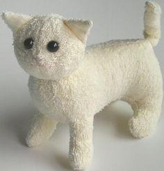 Make a terrycloth stuffed cat