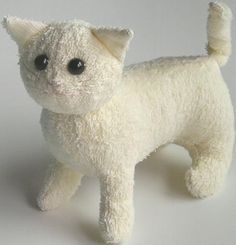 OMG - how cute!  Terry Cat How to make