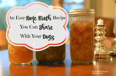 Bone broth recipe for dogs and humans