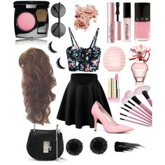 pink by wisemankendall on Polyvore featuring polyvore fashion style ALDO Chloé Anne Klein Chanel Bobbi Brown Cosmetics Armour Too Faced Cosmetics Urban Decay BCBGMAXAZRIA Topshop LVX