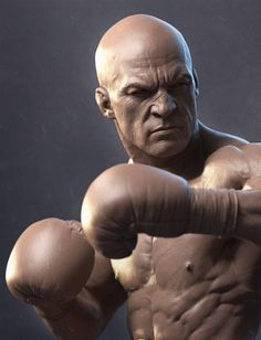 The Boxer by Sandeep VS | Realistic | 3D | CGSociety