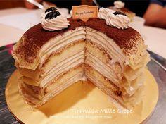 只想让自己快乐~: 生日蛋糕。提拉米苏法式千层蛋糕 Tiramisu Mille Crepe
