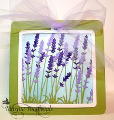 Memory Box Products Used:   Long Stem Lavender - 99108 Studio Square Layers - 30021 Tag You're It Squares - 30025