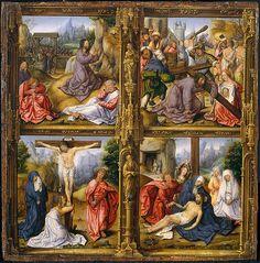 Four Scenes from the Passion. Artist: Follower of Bernard van Orley (Netherlandish, ca. 1520) Medium: Oil on wood