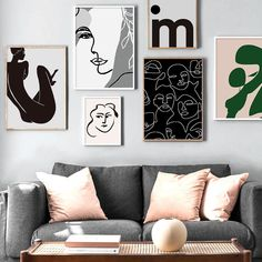 Nordic Black & White Abstract Art Pictures