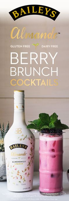 Before hosting brunch, grab your bottle of Baileys Almande - the NEW dairy free, gluten free and vegan almondmilk liqueur. Skip the mimosas and bloody marys and impress your friends with beautiful light-tasting brunch cocktails. Simply mix 2 oz. Baileys A https://twitter.com/gmsingin1/status/915364876633042945