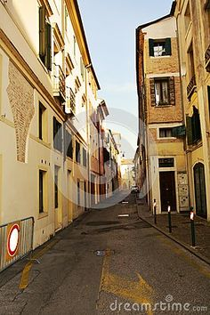 Old street in Treviso, Veneto Region, Italy pointing out the beauty of architecture and the specific of the region. Old Street, Stock Photos, Architecture, Building, Travel, Beauty, Italia, Arquitetura, Viajes