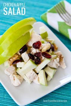My Favorite Chicken Apple Salad Recipe.  Such a great quick lunch or dinner for summertime.  #salad